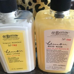 Bath and Body Works Lemon body lotion and Hand